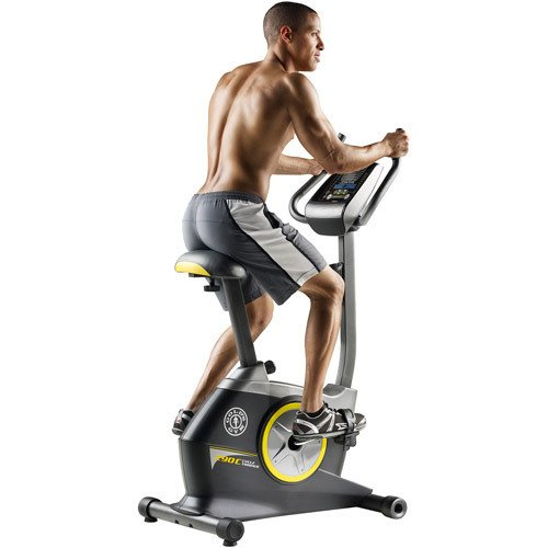 Golds 290C upright bike with rider